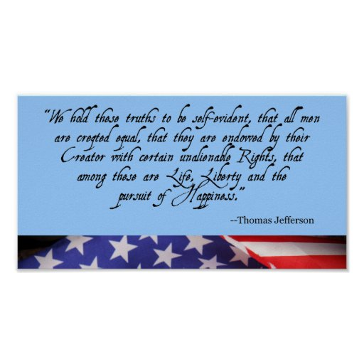 Independence Day American Flag Poster