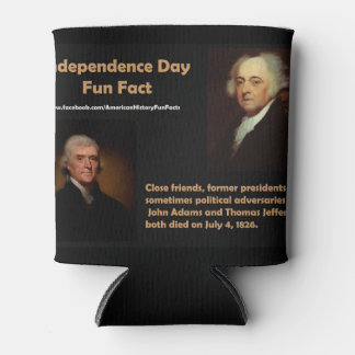 Independence Day American History Fun Fact Can Cooler