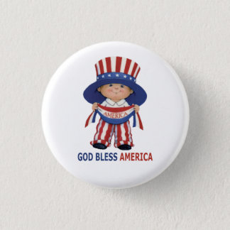 """Independence Day"""" Beautiful Round Button..."""" 1 Inch Round Button"""