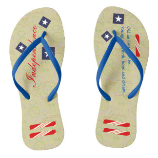 Independence Day Carmel Paper Flip Flops