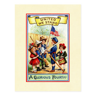 Independence Day Children Postcard