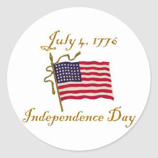 Independence Day Classic Round Sticker
