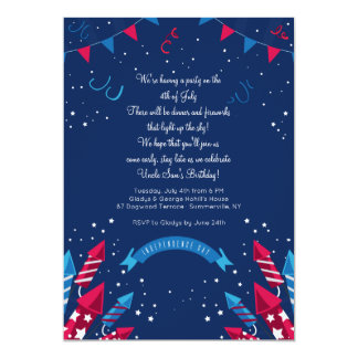 Independence Day Fireworks Invitation