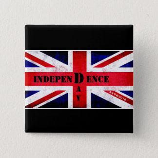 Independence Day for United Kingdom 2 Inch Square Button