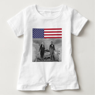 Independence Day George Washington Abraham Lincoln Baby Romper