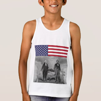 Independence Day George Washington Abraham Lincoln Tank Top