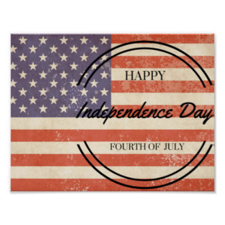 Independence Day - Happy 4th (fourth) July Poster