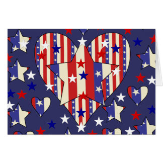 Independence Day Hearts Card