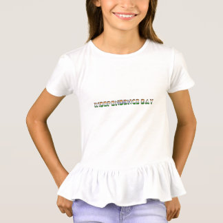 Independence Day India Indian Flag Typography T-Shirt