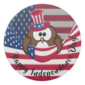 Independence Day owl - eraser