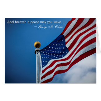 Independence Day Patriotic Veterans American Flag Card