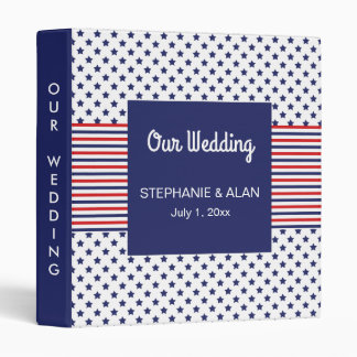 Independence Day Patriotic Wedding Binder