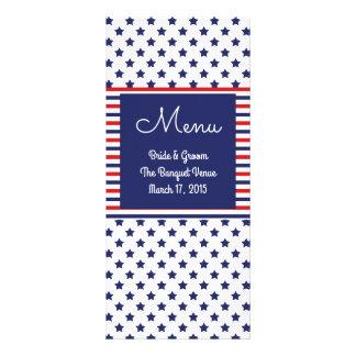 Independence Day Patriotic Wedding Menu Cards