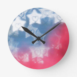 Independence Day Round Clock