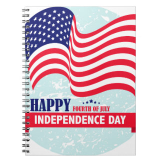 Independence-Day Spiral Notebook