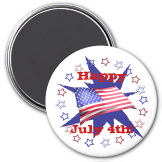 Independence Day Star Circle Magnet