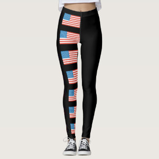 Independence Day Stars and Stripes Leggings