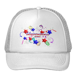 Independence Day With Confetti and Stars Hat