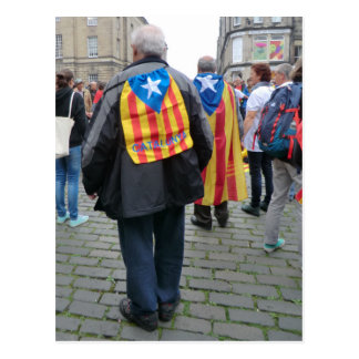 Independence for Catalonia Campaigners in Scotland Postcard