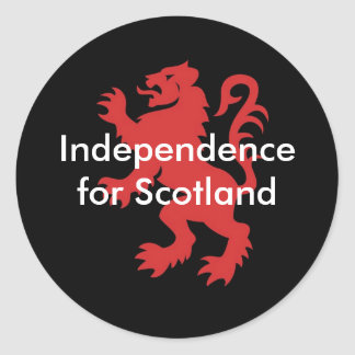 Independence for Scotland Classic Round Sticker