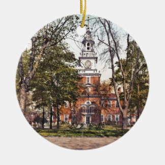 Independence Hall Vintage Philly Pensylvania Ceramic Ornament