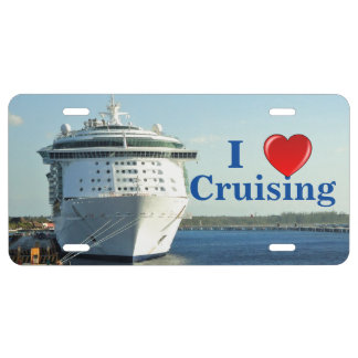 Independence in Cozumel Heart Cruising License Plate