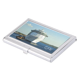 Independence in Cozumel Monogrammed Business Card Cases