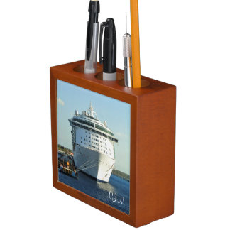 Independence in Cozumel Monogrrammed Desk Organizer