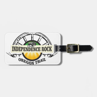 Independence rock seal luggage tag