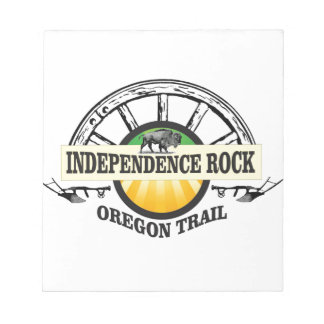 Independence rock seal notepad