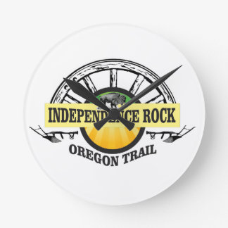 Independence rock seal round clock