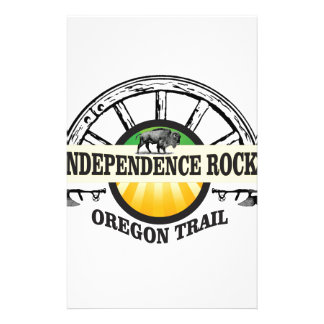 Independence rock seal stationery