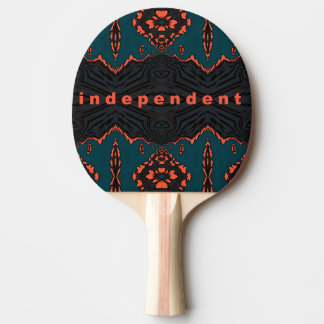 Independent and proud ping pong paddle