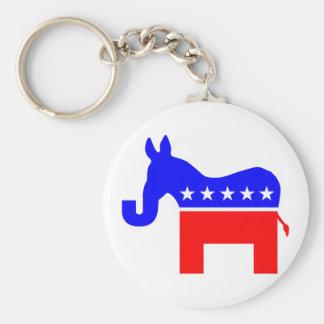 INDEPENDENT & BIPARTISAN - Donkey/Elephant Hybrid Basic Round Button Keychain