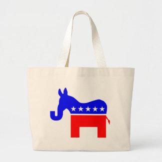 INDEPENDENT & BIPARTISAN - Donkey/Elephant Hybrid Large Tote Bag