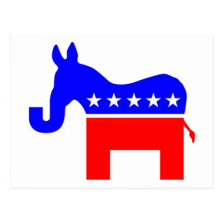 INDEPENDENT & BIPARTISAN - Donkey/Elephant Hybrid Postcard
