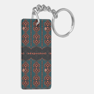 Independent in Orange and Green Keychain