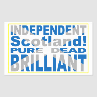 Independent Scotland Pure, Dead, Brilliant Sticker