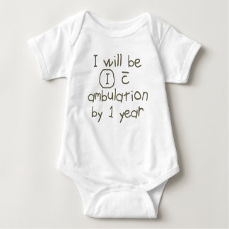 independent with ambulation grey handwriting PT Baby Bodysuit