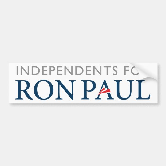 Independents for Ron Paul Bumper Sticker