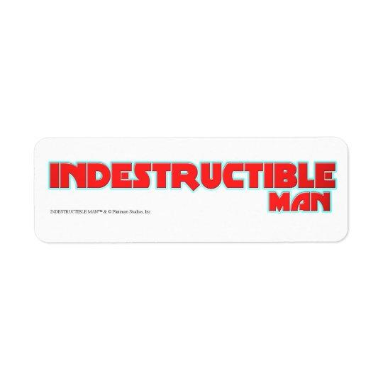 Indestructible Man - Platinum Studios Return Address Label
