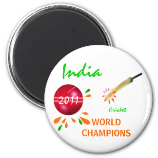 India 2011 ICC Cricket World Cup Champions Magnet