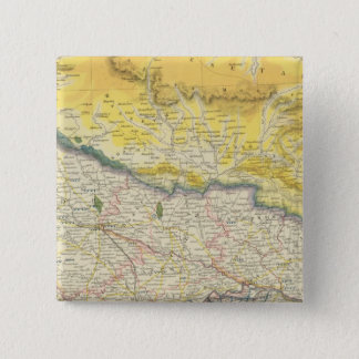 India and Nepal 2 Inch Square Button