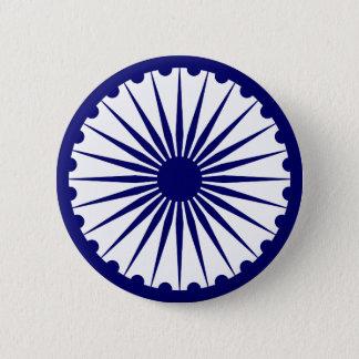 India Ashoka Chakra 2 Inch Round Button