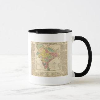 India Battles and Seiges Chonology Map Mug