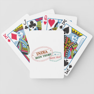 India Been There Done That Bicycle Playing Cards