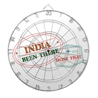 India Been There Done That Dartboard