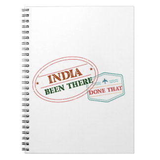 India Been There Done That Spiral Notebook