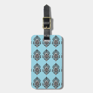 India Block Print Luggage Tag