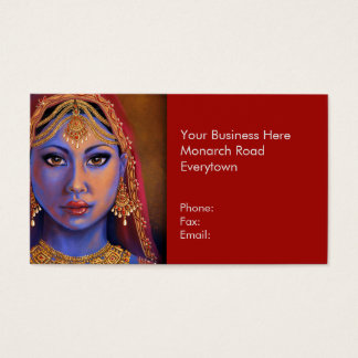 India: Bride Business Cards